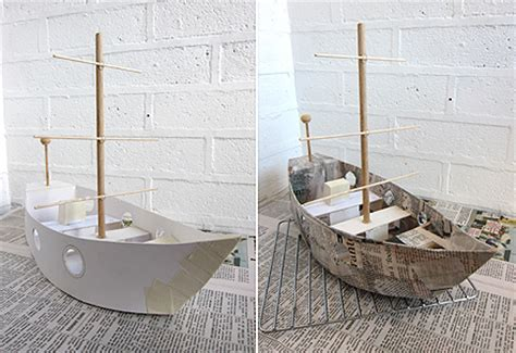 How To Make A Paper Mache Boat - craft tutorials galore at crafter holic march 2013