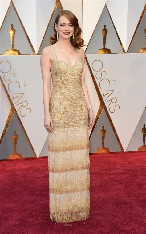 emma stone oscar dress ahead of the oscars this sunday revisit the most stylish