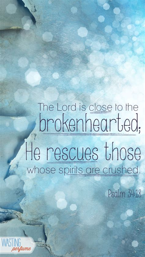 Jesus Comforts The Brokenhearted by Burn To Memory Psalm 34 18 Devotions For And