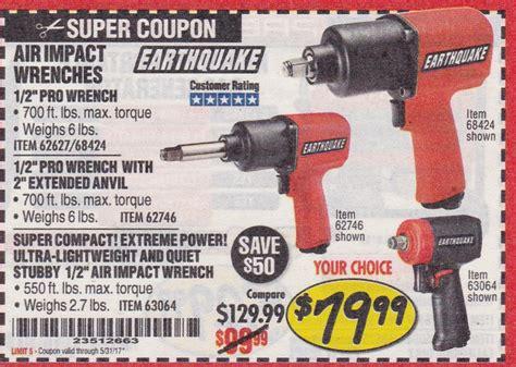earthquake xt coupon harbor freight earthquake impact wrench coupon coupons