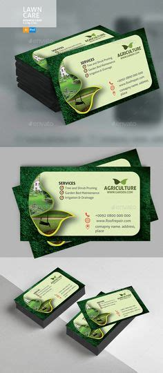 graphicriver lawn service business card template complete lawn care business everything from websites