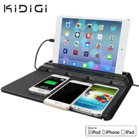smartphone charging station kidigi chief mfi tablet and smartphone charging station
