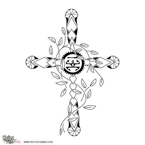 hawaiian family tattoo designs of hawaiian cross protection family