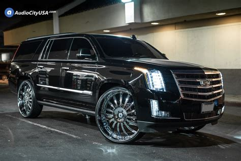 cadillac escalade 2017 lifted escalade with 30 inch rims www imgkid com the image
