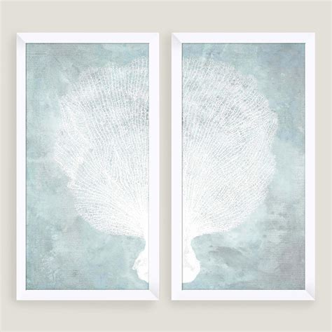 Water Stained Coral Wall Art 2 Piece World Market Water Wall Decor