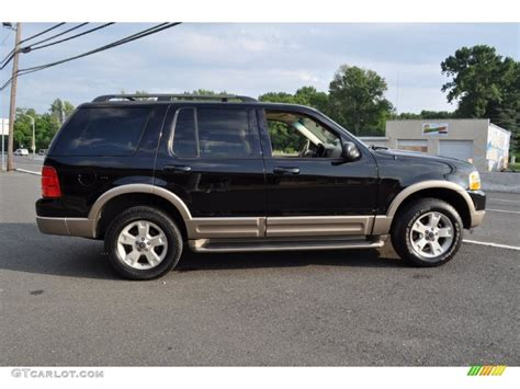 black 2003 ford explorer eddie bauer 4x4 exterior photo