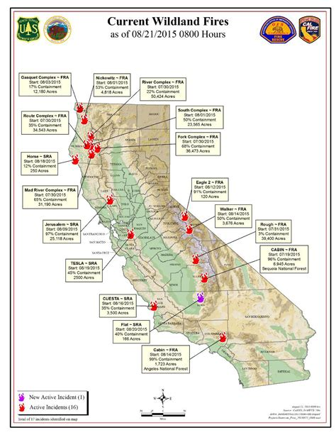fires in california map cal friday morning august 21 2015 report on wildfires in california walker is at 50