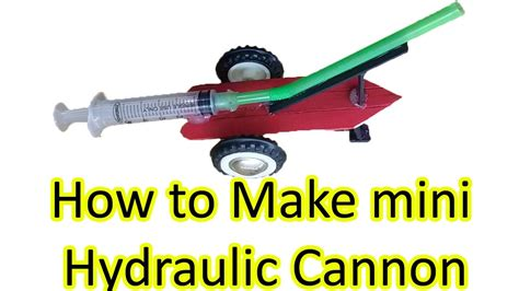 How To Make A Mini Cannon Out Of Paper - how to make hydraulic cannon science fair ideas for 5th