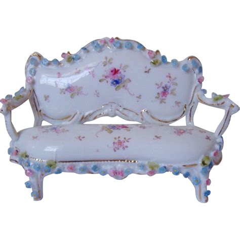 mini settee miniature doll house furniture sofa settee w roses