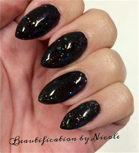 Rosa Nägel Mit Glitzer by Black Glitter Almond Nails Nail Gallery