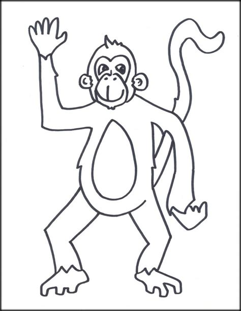 free printable monkey template monkey template for www imgkid the image kid
