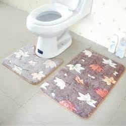 Rug For Bathroom Floor 2pcs Coral Velvet Soft Non Slip Bathroom Shower Mat Toilet Floor Rug Carpet Pad Ebay