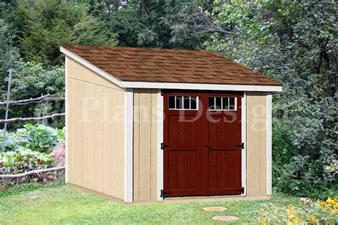 deluxe shed diy plans lean  dl material