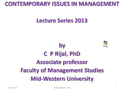 contemporary issue management contemporary issues in management