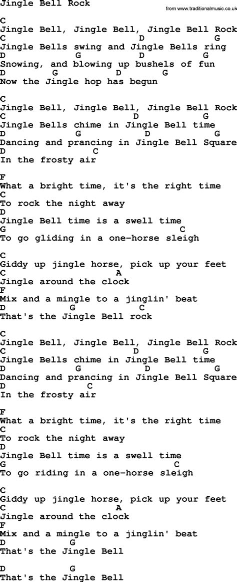 lyrics pdf george strait song jingle bell rock lyrics and chords