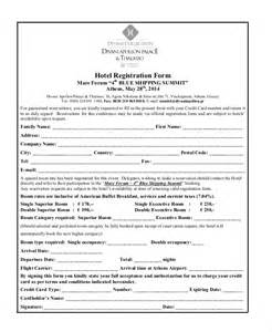 hotel registration form template sle registration form 21 free documents in pdf