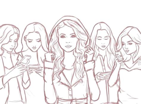 Coloring Pages Pretty Liars coloring pretty liars coloring pages