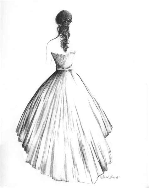 brautkleider zeichnungen wedding dress paintings by diane bronstein knotsvilla