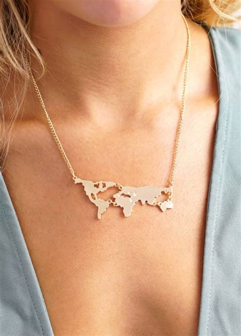 World Map Statement Necklace 1000 ideas about world necklace on necklaces