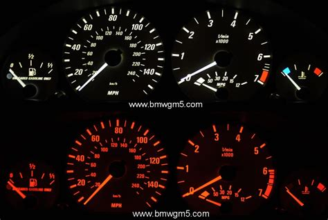 bmw e46 white or blue backlit instrument cluster