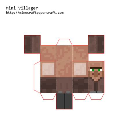 Minecraft Mini Papercraft - papercraft mini villager