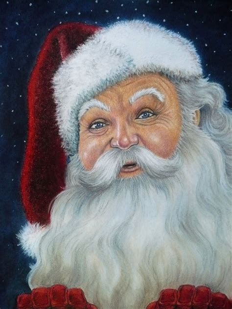 santa claus portraits mary clare s artwork
