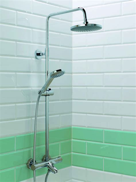 bath and shower kits stroma thermo bath shower mixer with fixed rail kit bath