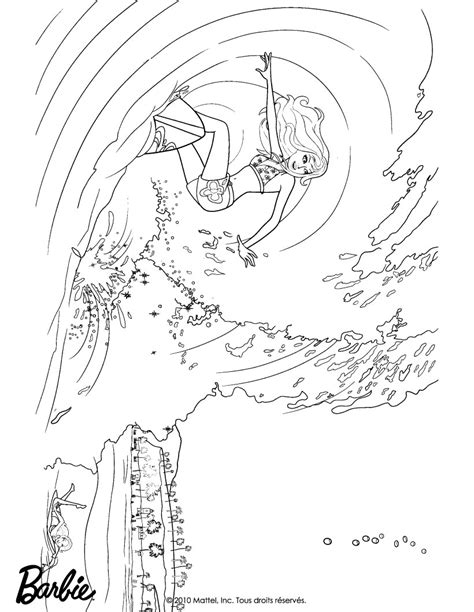 coloring pages of barbie surfing barbie in a mermaid tale coloring pages merliah surfing