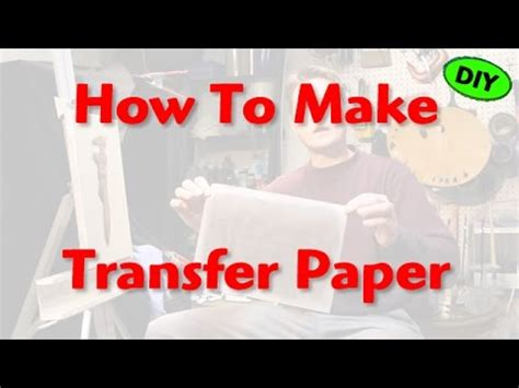 Make Your Own Transfer Paper - how to make transfer paper