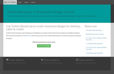 bootstrap 3 column template bootstrap tutorial a responsive design tutorial with