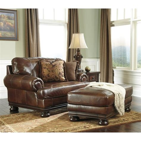 ashley chair and ottoman ashley furniture hutcherson leather accent chair and