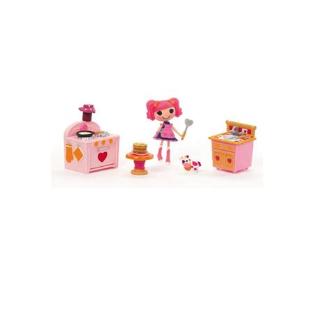Lalalopsy Family Set lalaloopsy kitchen set dollhouse furniture jars minis and stack of pancakes