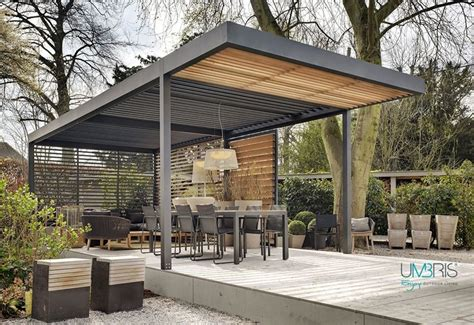 Pergola Ideen 3643 by Umbris Automated Outdoor Louvre Roof The Patio Roof