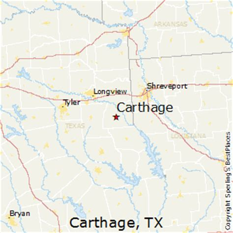 map of carthage texas best places to live in carthage texas