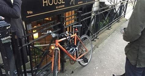 barber jobs glasgow city center city centre barbers in a pickle after dozy cyclist locks