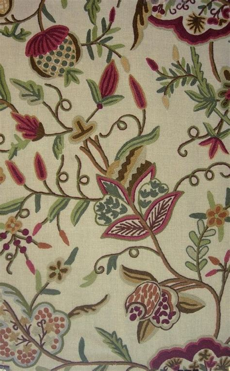 crewel curtain fabric 10 best crewel fabrics images on pinterest jacobean