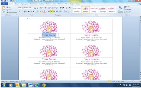 business card cd labels and free template