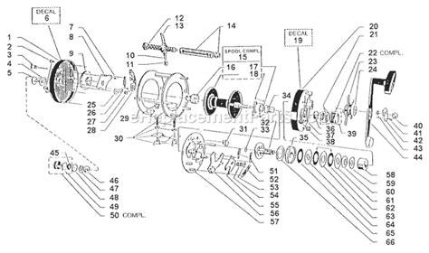 abu garcia reel parts diagram abu garcia 7000 parts list and diagram 91 05