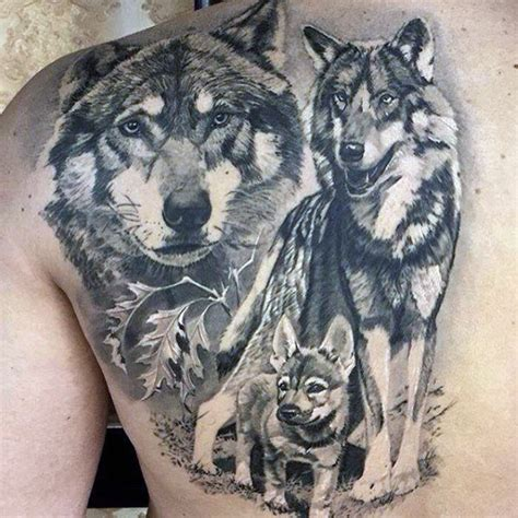 tattoo back wolf 100 animal tattoos for men cool living creature design ideas