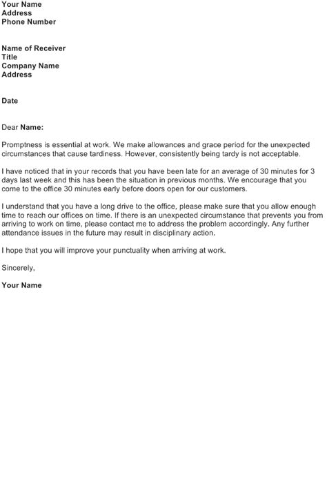 Apology Letter To For Tardiness File Complaint Letter Images