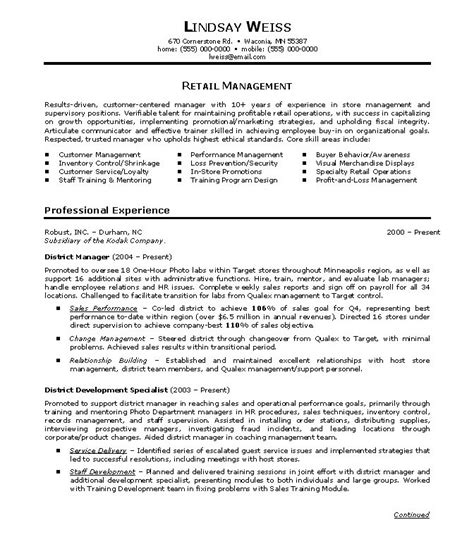 Sle Resumes For Retail by Sle Resume Retail 28 Images Retail Resume Sle 28 Images Retail Resume Resume Sales Retails