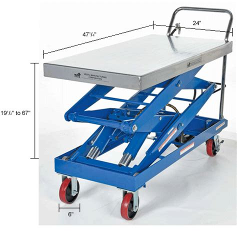 air tables material handling vestil pneumatic hydraulic mobile scissor lift table air