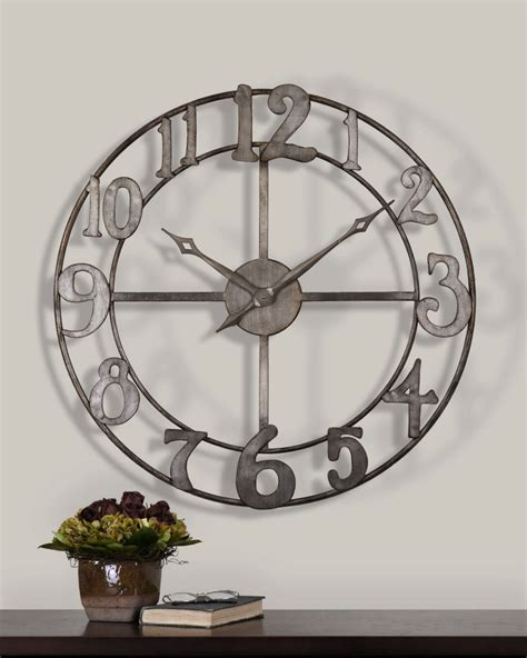 large wall clocks clocks large metal wall clock extra large decorative wall