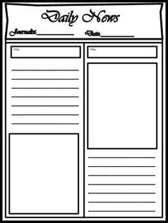 free printable newspaper template for students blank newspaper template for printable newspaper