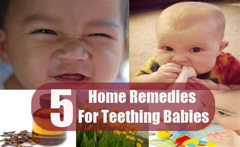 5 teething babies home remedies treatments