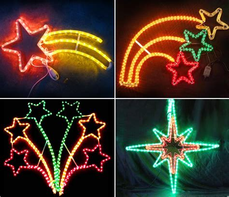 commercial grade outdoor christmas star rope led motif