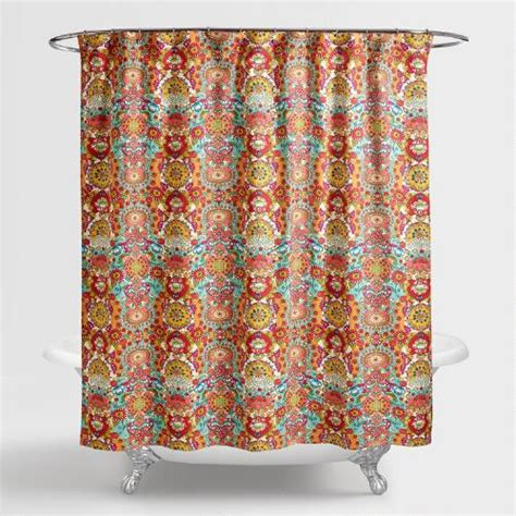 shower curtain floral bettina floral shower curtain world market