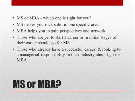 Difference Between Mba And Masters In Finance by Knowledge Varsity Mba Or Ms