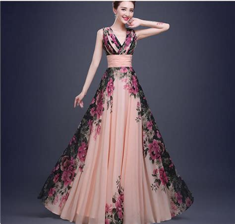 flower pattern bridesmaid dresses real simple 3 designs tank flower pattern floral print