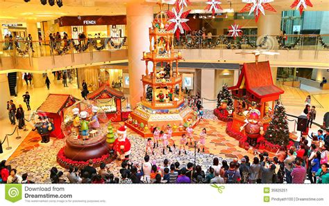 are shops open new year in singapore decoration at shopping mall editorial photo